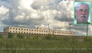Il carcere Mammagialla - Nel riquadro: l'ex brigatista Luigi Fallico
