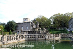 Bagnaia - Villa Lante- La fontana dei mori senza acqua