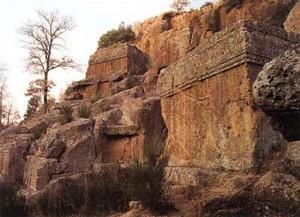 Viterbo - La necropoli etrusca di Norchia come era
