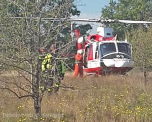 I vigili del fuoco salvano una donna caduta in un dirupo