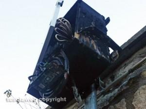 Viterbo - Il varco a fuoco in via Chigi