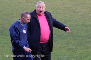 Sport - Calcio - Viterbese - Il patron Piero Camilli con Federico Nofri