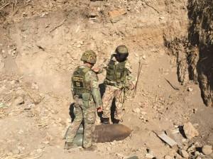 Gli artificieri dell'esercito in azione