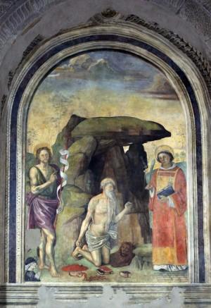 Viterbo - Santa Maria Nuova - L'affresco del Pastura dopo il restauro