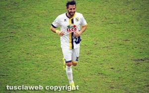 Sport - Calcio - Viterbese - L'esultanza di Michele Boldrini dopo il gol dell'1-0