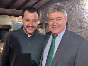 Umberto Fusco con Matteo Salvini