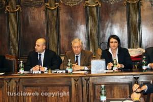 Viterbo - Ciorba, il sindaco Michelini e Ciambella al consiglio comunale