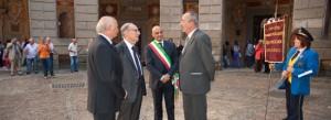 Caprarola - Ennio Morricone con il sindaco Stelliferi