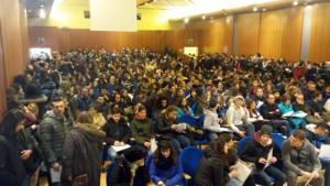 Gli studenti all'Open day dell'Unitus