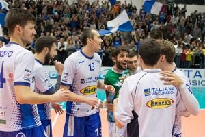 Sport - Pallavolo - I ragazzi del Tuscania volley durante il derby