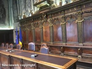 Viterbo - La sala del consiglio comunale