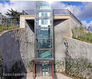 Viterbo - L'ascensore a valle Faul