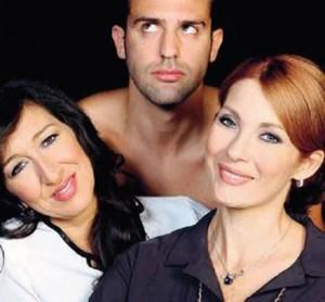 """Emanuela Aureli e Milena Miconi in """"L'uomo perfetto"""""""