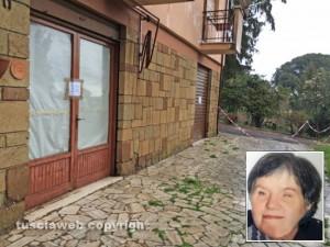 Giallo di Ronciglione - La casa dove è stata trovata la donna morta nel congelatore - Nel riquadro Rossana Bramante