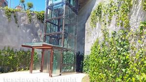 Viterbo - Valle Faul - L'ascensore verso il Sacrario