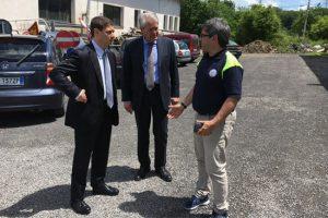 Acquapendente - Alessandro Mazzoli alla centrale operativa della protezione civile