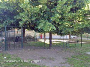 Viterbo - Il giardino della scuola dell'infanzia Radice