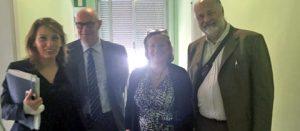Il sopralluogo del sindaco Mazzola all'ospedale con Donetti e Valentini