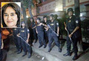 Dacca – Commando assalta bar ristorante - In alto a sinistra Nadia Benedetti