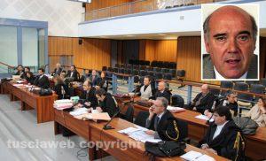 Tribunale - Maxiprocesso Asl - Nel riquadro, Giuseppe Aloisio