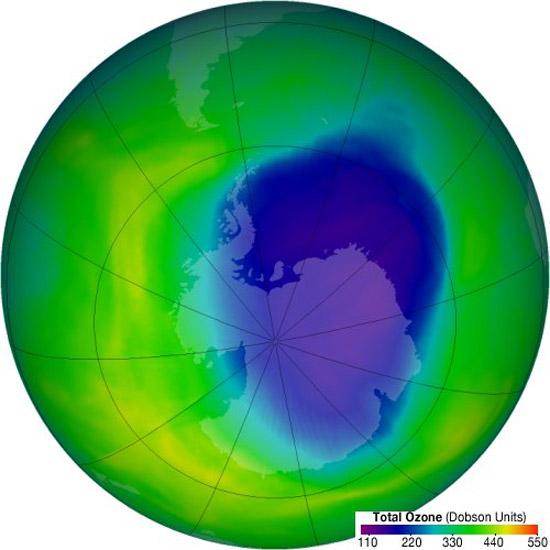Buco dell'ozono, raggiunta massima estensione