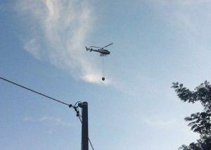 L'elicottero dei vigili del fuoco