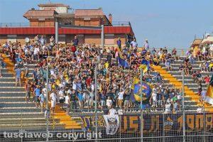 Sport - Calcio - Viterbese - La curva durante il match contro la Cremonese