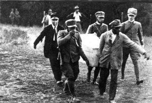 Il ritrovamento del corpo di Matteotti al bosco della Quartarella