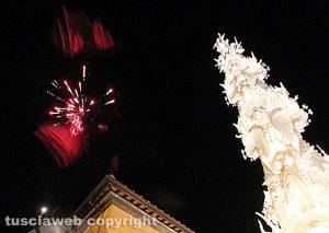 Viterbo - Santa Rosa - La macchina Gloria e i fuochi d'artificio