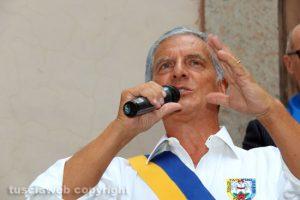 Trasporto macchina di Santa Rosa - Il presidente Massimo Mecarini