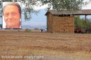 Omicidio di Tuscania – I Ris sul luogo del delitto - Nel riquadro Angelo Gianlorenzo