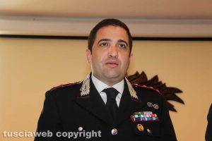 Il capitano Marcello Egidio, comandante del nucleo investigativo di Viterbo
