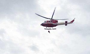 Maltempo - L'elicottero dei vigili del fuoco