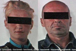 La coppia arrestata: Catalina Mazare e Marco Marcelli