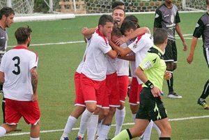 Sport - Calcio - Monterosi - L'esultanza dei biancorossi