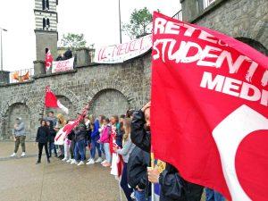 La protesta della Rete degli studenti medi di Viterbo - Foto d'archivio
