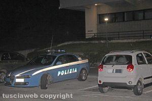 Ospedale di Belcolle - Un'auto della polizia