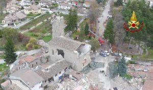 Terremoto - Amatrice vista dall'alto nel 2016
