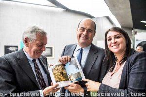 Roma - Leonardo Michelini, Nicola Zingaretti e Luisa Ciambella al Maxxi per la presentazione della guida turistica della Repubblica sul Lazio