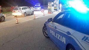 Il posto di blocco della polizia stradale