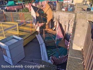 Viterbo - Il gazebo distrutto dal vento
