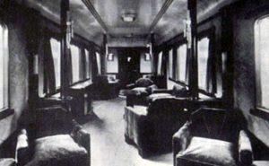 Interno della carrozza usata dal duce nel 1932