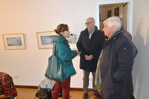 Tarquinia - La professoressa Angeletti con il sindaco Mazzola