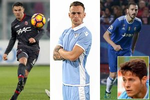 Sport - Calcio - Da sinistra: Viviani, Lombardi e Bonucci - Nel riquadro: Rossi