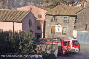 Viterbo - Casa in fiamme a via Faul