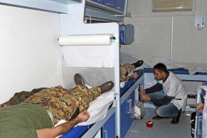 Viterbo - Un momento della donazione di sangue