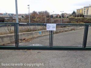 Centro di raccolta dei rifiuti a Riello chiuso