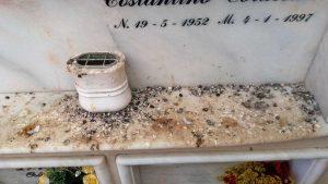 Montalto di Castro - Escrementi di piccione al cimitero