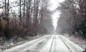 Maltempo - La neve stamani sui Cimini