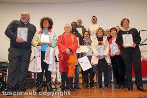 Viterbo - Premio Maestro Fardo - I volontari che hanno ricevuto il riconoscimento